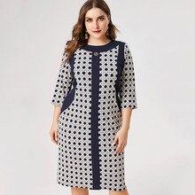2020 Spring womens Plus Size elegant dress fashion Ladies femal midi dresses temperament woman party night
