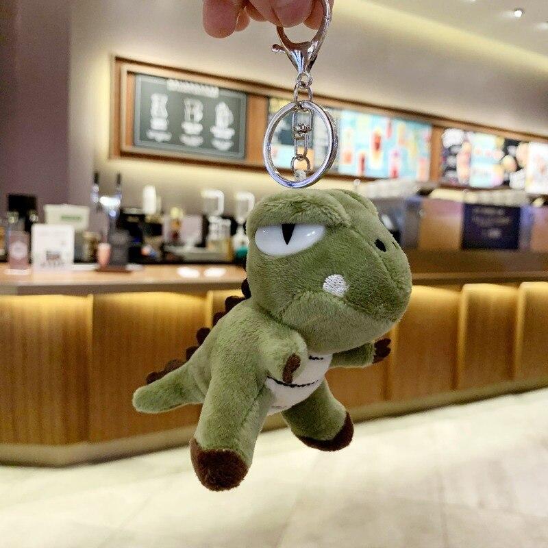 Small dinosaur backpack female small pendant key ring doll cute school bag plush pet