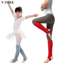 Knitted Leg Warmers For Children Adult Latin Girls Leg Warmers Sports Protective Ballet Kids Leg Warmers Yoga Foot Warm Socks