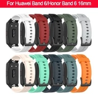 waterproof sweatproof replacement strap for huawei band 6honor band 6 16mm soft silicone bracelet replacement for huawei band 6