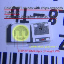 Светодиодная подсветка LG Innotek, 60 шт., высокомощная LED подсветка 2 Вт 6 в 3535, холодный белый ЖК-дисплей, подсветка для ТВ, ТВ, приложения, латвт491rzlzk