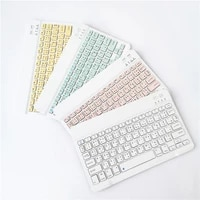 10 inch portable mini wireless bluetooth keyboard for tablet laptop smartphone ipad ios android phone russian spanish french