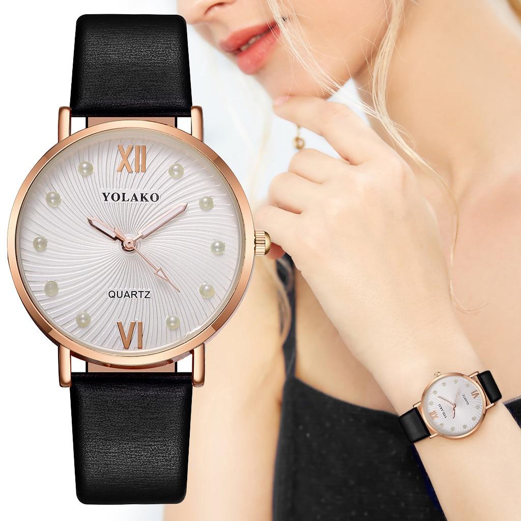 YOLAKO, reloj de pulsera de cuarzo informal para mujer, Correa Newv, reloj de pulsera analógico, reloj elegante para mujer