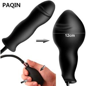 Super Large Inflatable Big Butt Plug Dildo Pump Butt Plug Anal Dilator Massager Extender Dilatador Inflated Silicone Sex Toys