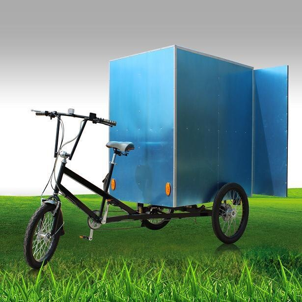 Mercancía pesada 500w potente triciclo motorizado de carga/Triciclo de mensajería con envío gratis por mar y tres ruedas