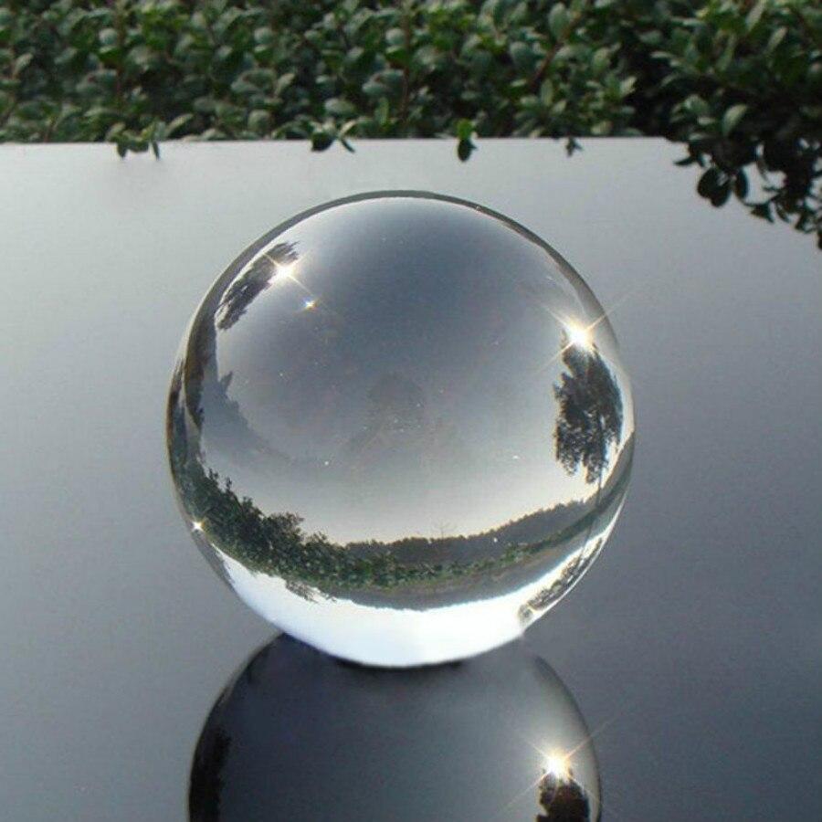Esfera de bolas curativas de cristal transparente de cuarzo Natural, mágicas, asiáticas, existencias en EE. UU., 40mm