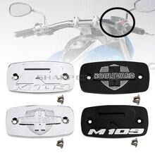 Piezas de motocicleta cromadas para cilindro principal de freno delantero cubierta de depósito para Suzuki bulevar M109R VZR1800 Intruder M1800R