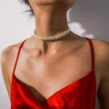 KMVEXO, gargantilla de perlas redondas simuladas multicapa Bohemia, Collar, Collar de cadena de clavícula de declaración, Collar de mujer, joyería de boda