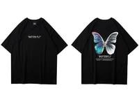 new hip hop oversize t shirt men streetwear harajuku color butterfly tshirt short sleeve cotton loose hiphop t shirt plus size