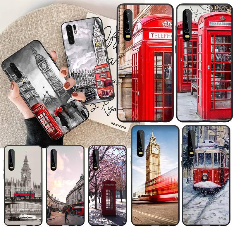 NBDRUICAI london bus Inglaterra teléfono DIY pintado Bling funda de teléfono para Huawei Honor 20 10 9 8 8x 8c 9x 7c 7a Lite view