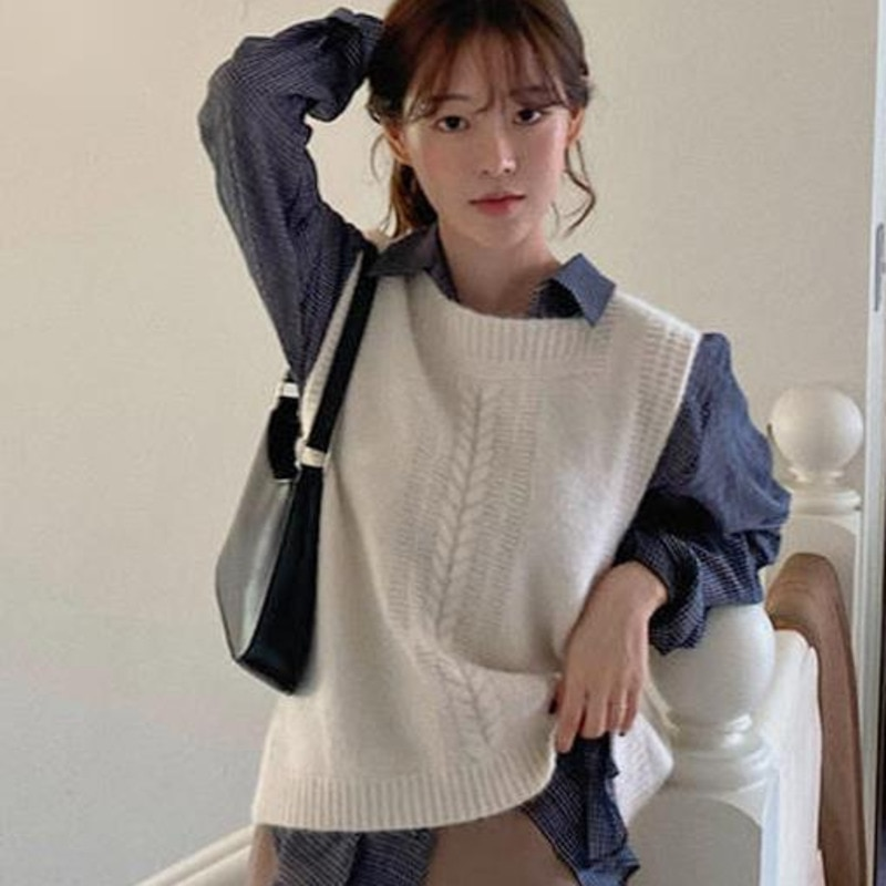 Blouses Female Suit Korean Temperament Foreign Style Aging French Chic Vest Shirt Set Two-piece Set