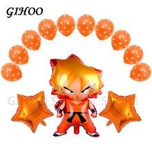 GIHOO 1 set 78*45cm Z Son Goku Dragon Ball Orange Fluorescent Stern Dot Latex Ballon Dekor Versorgung layout Geburtstag Party ballon