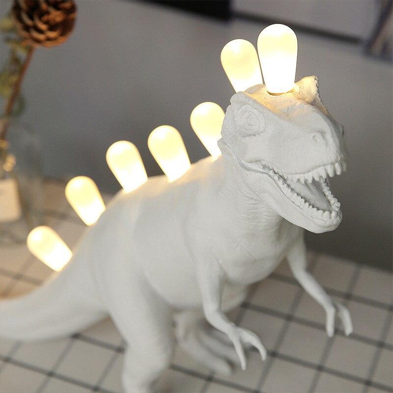 Dinosaur Night Light Table Lamps for Children Bedroom Resin Brontosaurus T-Rex Led Desk Lamp Luminaire Home Art Decor Light LEDS enlarge