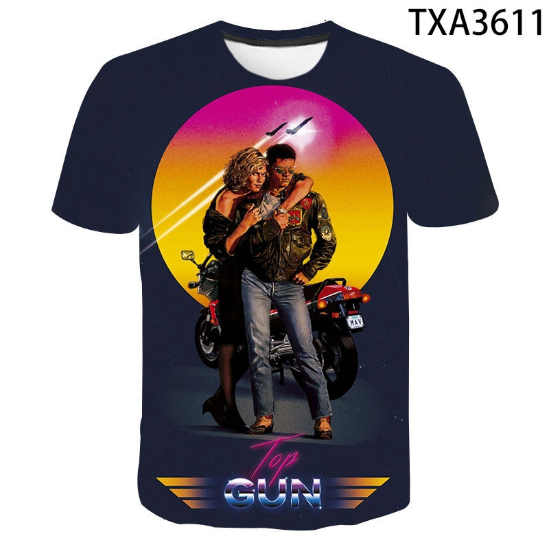 2020 Top Gun T Shirt Top Gun Maverick Tom Cruise Tee T Shirt 1986s Airforce Movie Printed T-shirt  Men Women Children Tops Tee