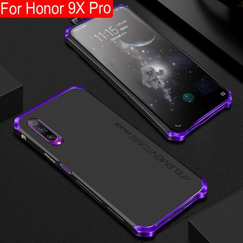 Metal Frame Phone Case For Huawei Honor 9X Pro Thin Hard Aluminium Hybrid PC Shell For Huawei Honor 9 X Pro Cases honor9x pro
