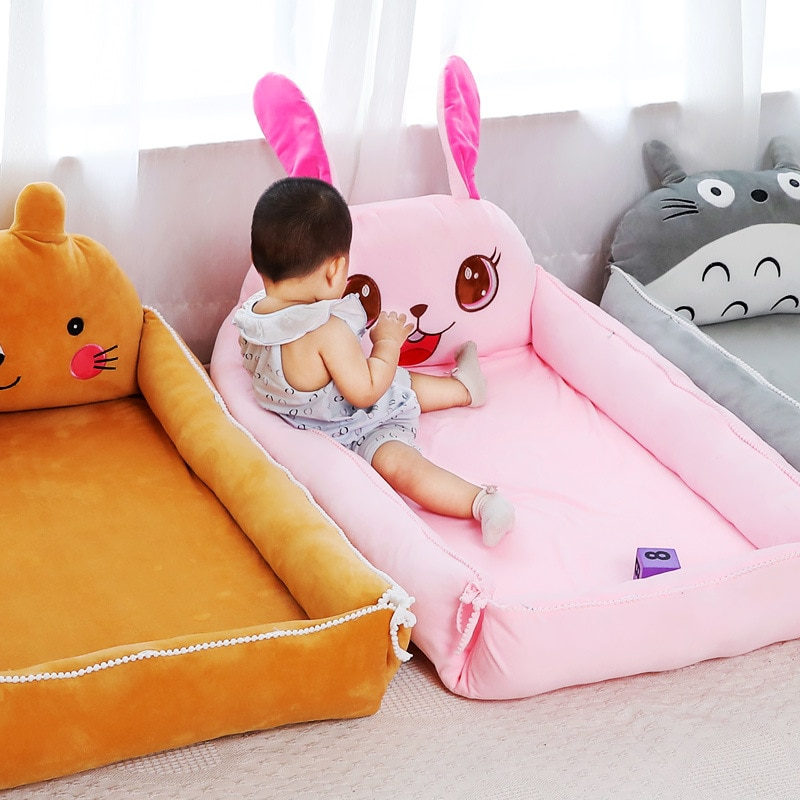 Baby's Oversized Bionic Bb Bed In Crib Baby's Portable Foldable Anti-pressure Bed for Newborn Baby's Bed.