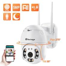 Techage 5MP HD IP caméra wifi extérieure caméra PTZ étanche AI détection humaine caméra de sécurité couleur nuit caméra de Surveillance