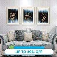 Peinture sur toile avec papillon dore  affiche decorative  tableau dart mural pour salon  decoration de maison