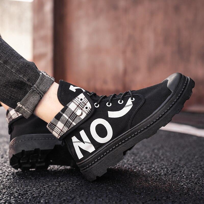 Zapatos informales para hombre, botas Martin, zapatillas de moda para hombre, zapatos de tendencia con clavo corto, zapatos vulcanizados para hombres, zapatos cómodos antideslizantes para caminar