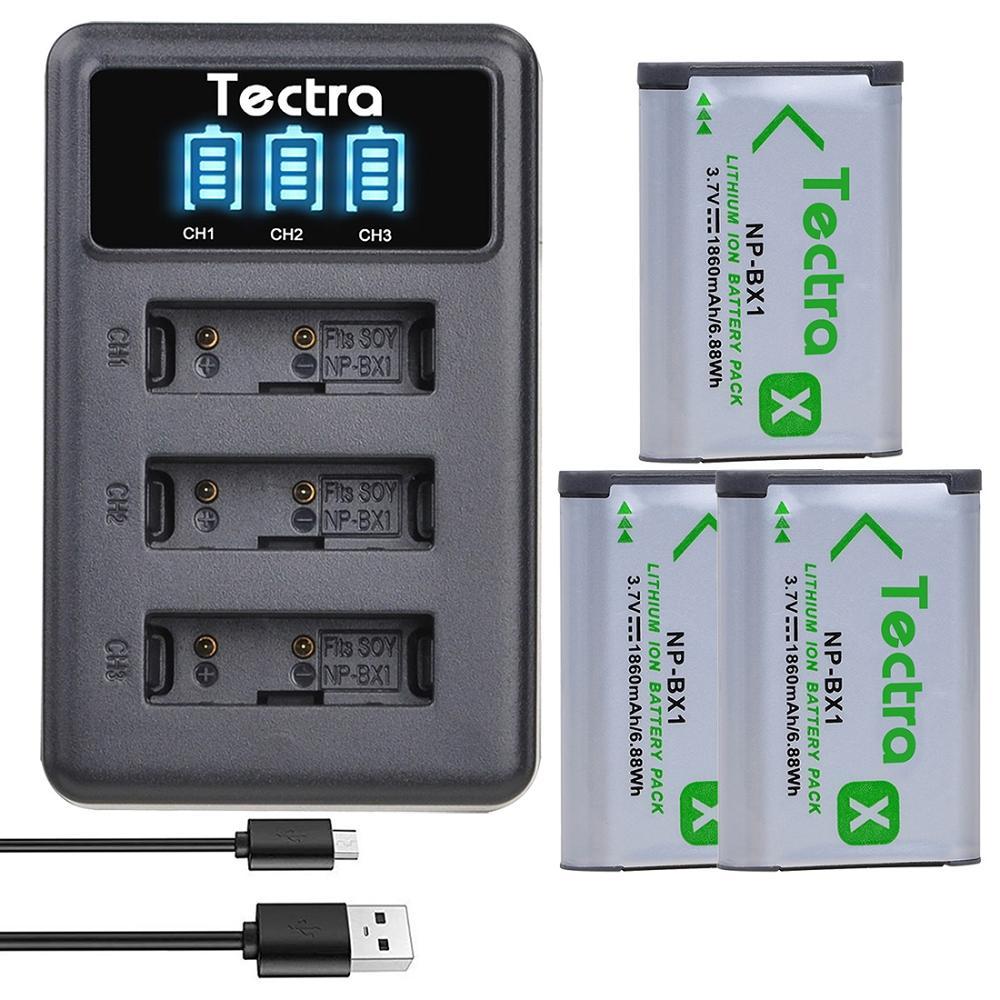 NPBX1-Batería de NP-BX1 de 1860mAh y Cargador USB LED para Sony HX300,...