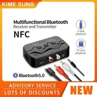 nfc multifunction bluetooth compatible receiver transmitter stereo audio wireless amplifier