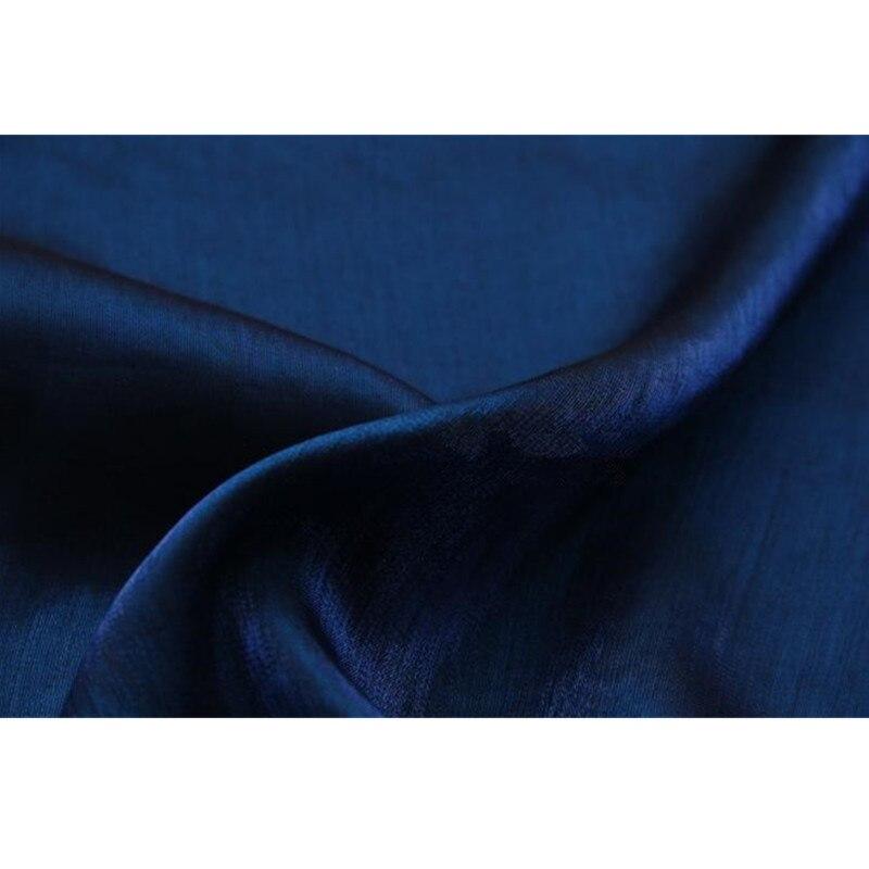 CF474, tela de algodón azul oscuro cambiable, tela de algodón, tela de satén de seda esmaltada de color importado, vestido de moda para mujeres, telas de falda