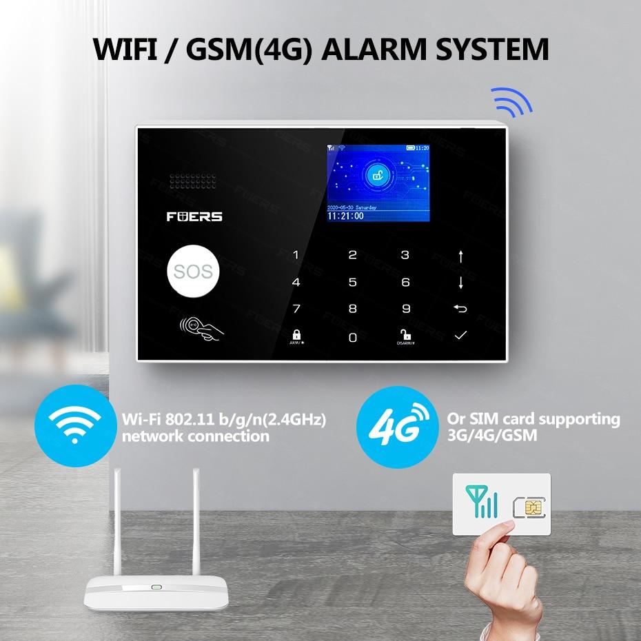 4G Tuya Alexa Wifi GSM alarm systems security home Solar Siren Touch keypad Smart Home Burglar Alarm  System ip Wifi camera enlarge