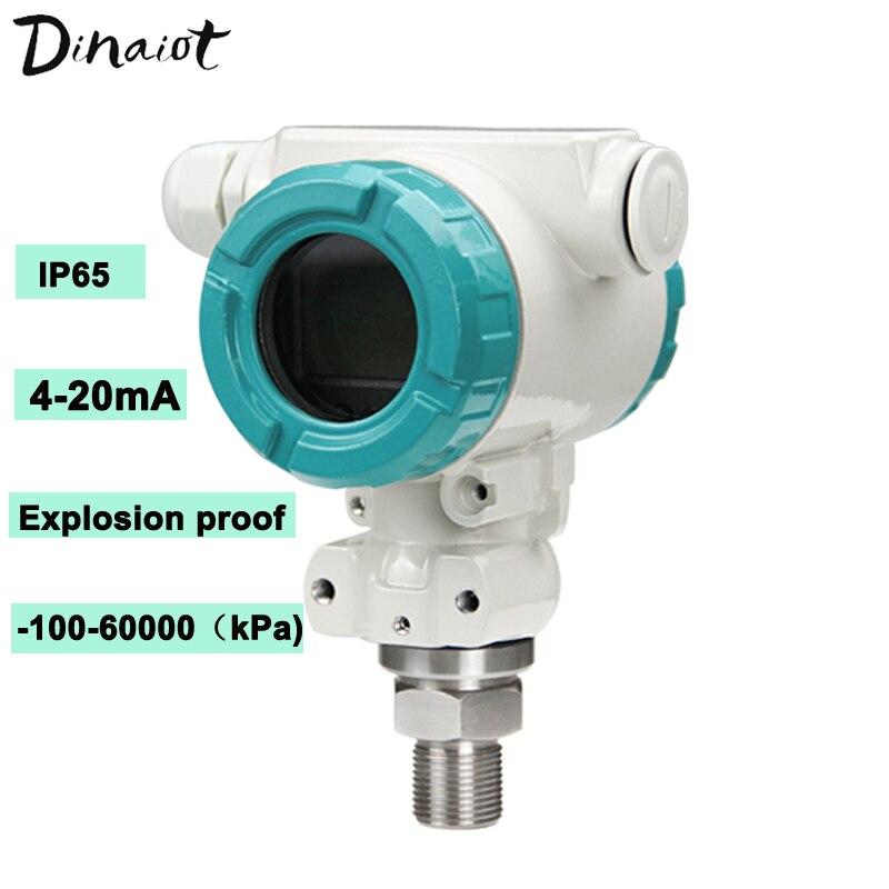Transductor de presión a prueba de explosiones-100Kpa-60Mpa pantalla LCD Sensor de presión Digital 4-20mA Gas transmisor de presión líquida