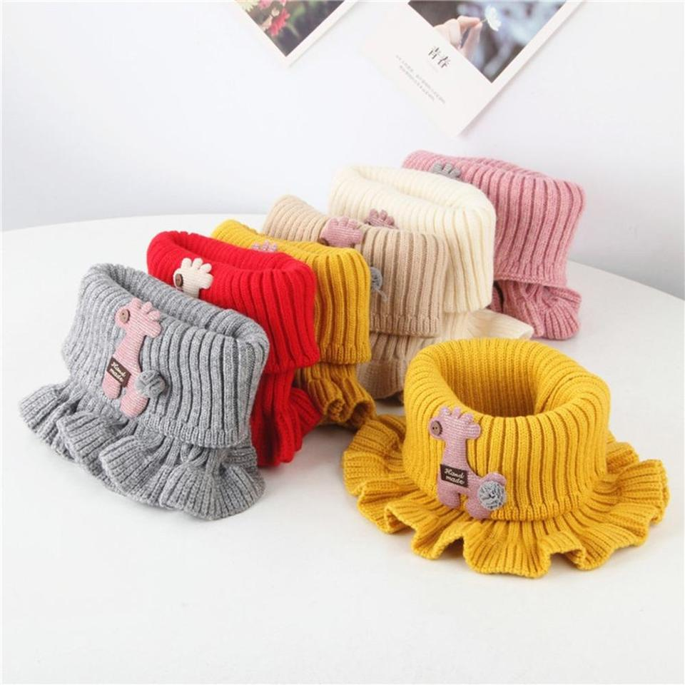 Kids Boys Girls Knitted Winter Scarf Cartoon Warmer Crochet Cowl Collar Circle Neck Scarfs Warmer For 2 8year Children Xs Sweaters Aliexpress