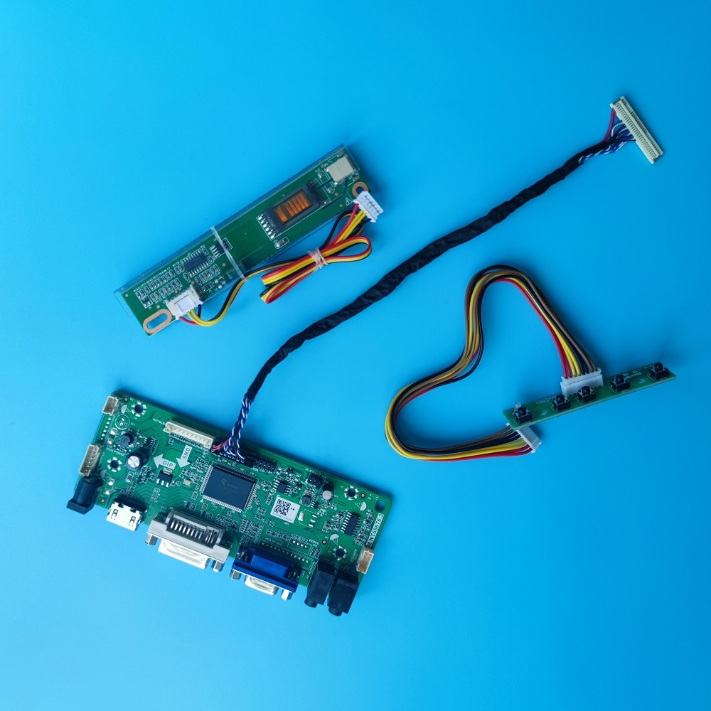 عدة ل LP154WE2-TLB2/TLB1/TLA1/TLA2/TLA3/TLA4/TLA7/TLA8/TLA5 لوحة تحكم DVI لوحة إشارة VGA 1 مصابيح LVDS 1680X1050 15.4