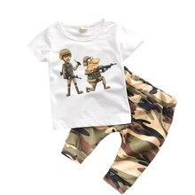 Ensemble été en coton 2 pièces 12 Styles   Nouveau t-shirt + short, vêtements pour enfants garçons, joli t-shirt imprimé de dessin animé, survêtement pour enfants