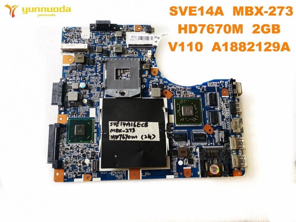 الأصلي لسوني MBX-273 اللوحة المحمول SVE14A MBX-273 HD7670M 2GB V110 A1882129A اختبار جيد شحن مجاني