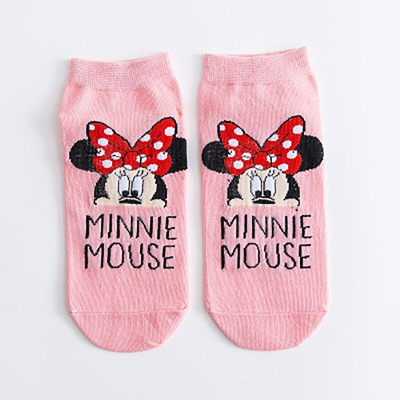 Disney desenhos animados meias bonito mouse pato tornozelo meias invisíveis mickey minnie feliz engraçado meias bonito algodão meninas meias femininas