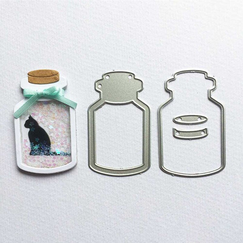 Creative Drifting Bottle Metal Cutting Dies 3D Bottle Dies For Scrapbooking Photo Card Making New Die Set Embossing Card Crafts