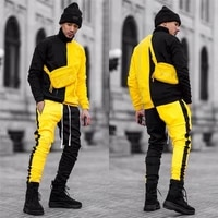 fashion 2021 tracksuit brand men 2 piece tops and pants sweat suits sport patchwork set sweatshirt fitness workout running suit