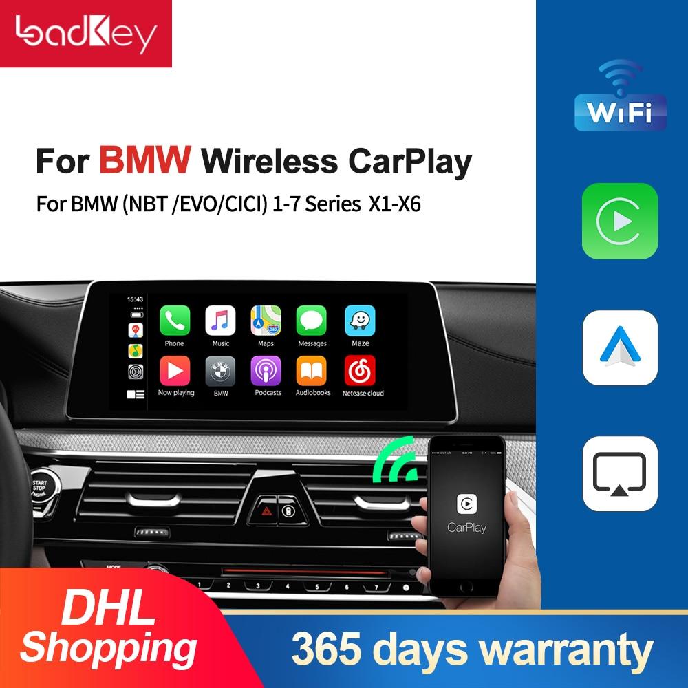 Loadkey & Carlinkit فك كاربلاي Wirless أندرويد السيارات لسيارات BMW جميع سلسلة X1-X6 ميني كوبر NBT CIC EVO نظام صندوق الذكية
