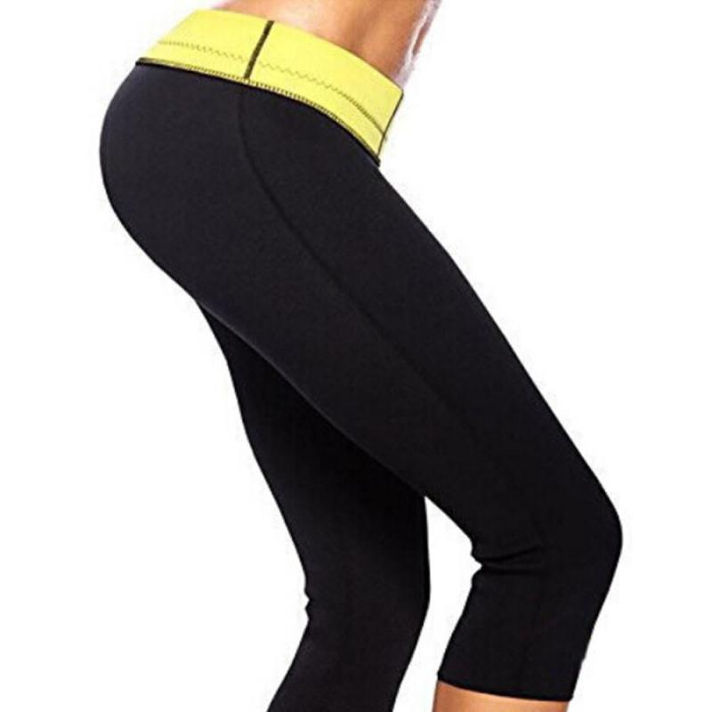 Hot selling yoga pants fitness sauna shaping pants corset belt cropped pants burst sweat pants self-heating weight loss pant NEW