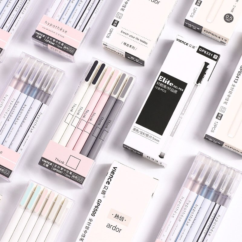 1pc Cute Simple Pens 0.5mm Novelty Gel Pens Kawaii Neutral Pens For Kids Girls Gift School Office Supplies Korean Stationery