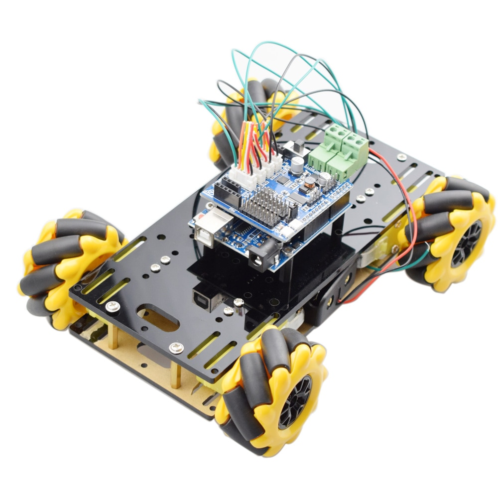 New Style Mini Arduino RC Mecanum Wheel Omni Robot Car Chassis Kit with TT Motor for Raspberry Pi Mixly Scratch Program STEM Toy