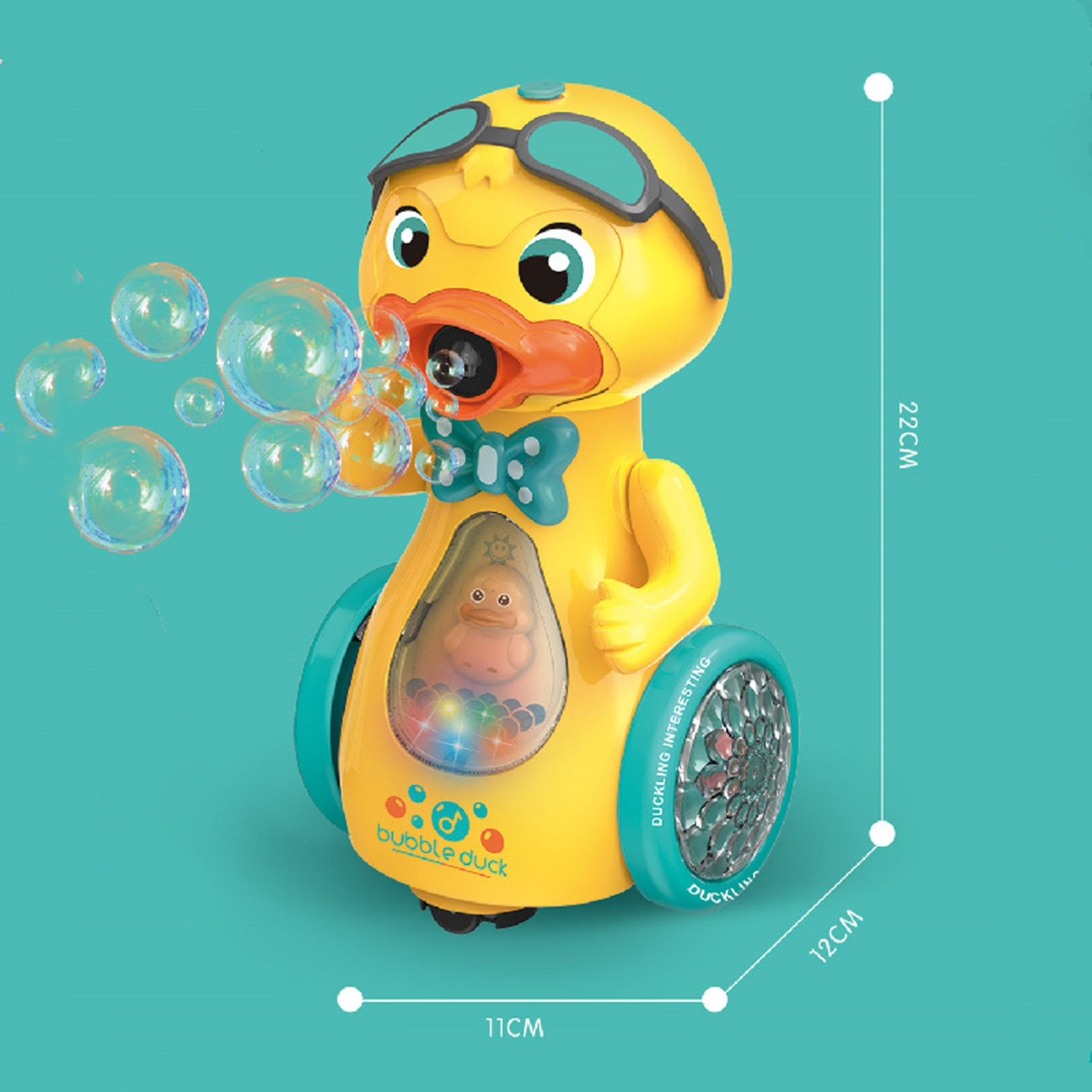 Bubble Blower Electric Cute Duckling Bubble Machine Music Lighting Toys Automatic Bubbles Maker Summer Kids Fun Outdoor Toys  - buy with discount