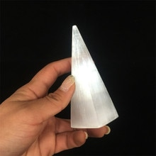 도매 천연 원시 석고 거친 흰색 selenite 돌 화려한 램프 크리스탈 피라미드 스틱 불꽃 빛 판매 www