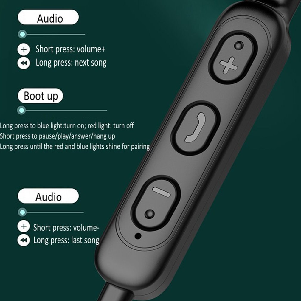 Bluetooth-compatible Headphone for Sports Wireless Headphones Bass In Ear with Mic  Noise Reduction Running Sport Earphone enlarge