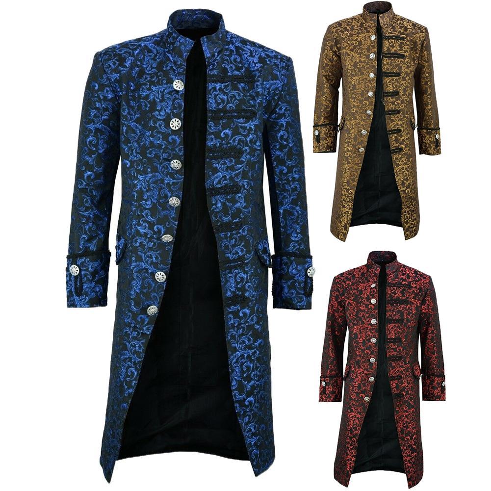 Gothic Neue männer Vintage Frack Jacke Gothic Steampunk Langarm Jacke Viktorianischen Kleid Jacke Halloween Casual Taste Clot
