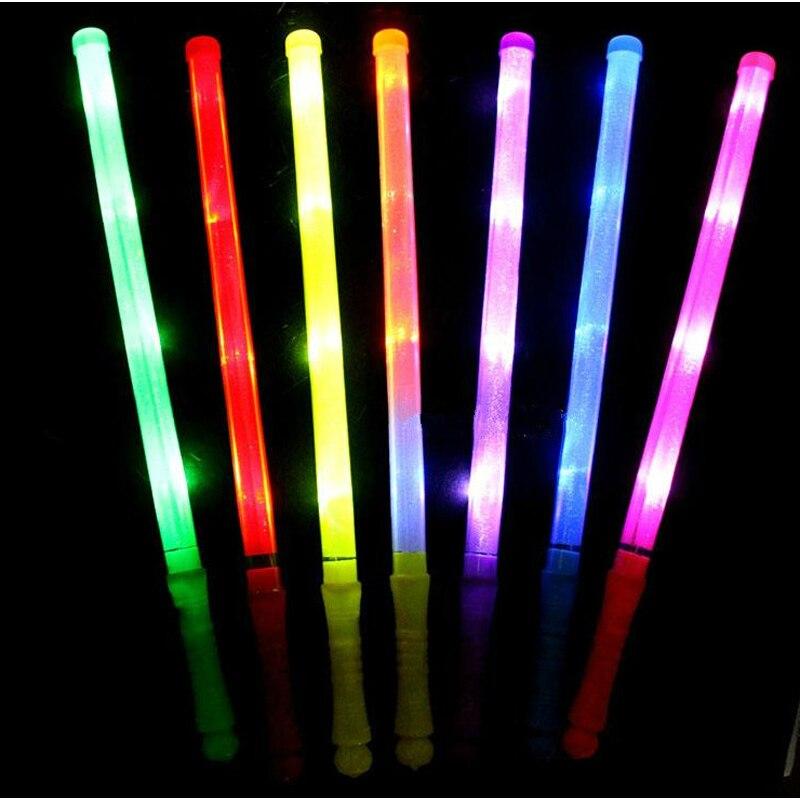 100pcs Concert LED Party 48cm Led Plastic Stick Flashing Glow Sticks neon sticks For Party Wholesale supplies Luminous Toys
