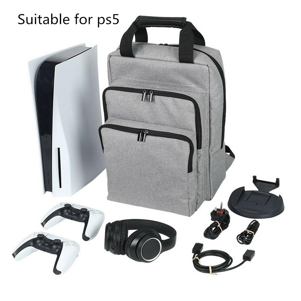 حقيبة التخزين واقية ل PS5 وحدة التحكم حقيبة كتف ل بلاي ستيشن 5 PS5 لعبة حقيبة السفر مزدوجة الكتف المحمولة تصميم