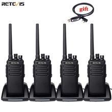 DMR Radio высокомощная цифровая рация, 4 шт., водонепроницаемый приемопередатчик Retevis RT81 IP67 UHF VOX Ham для фермы, заводского склада