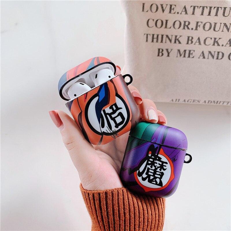 Dragon ball caso para apple airpods 1 2 caso capa de silicone fone ouvido casos caixa para airpod bluetooth fone caso imd