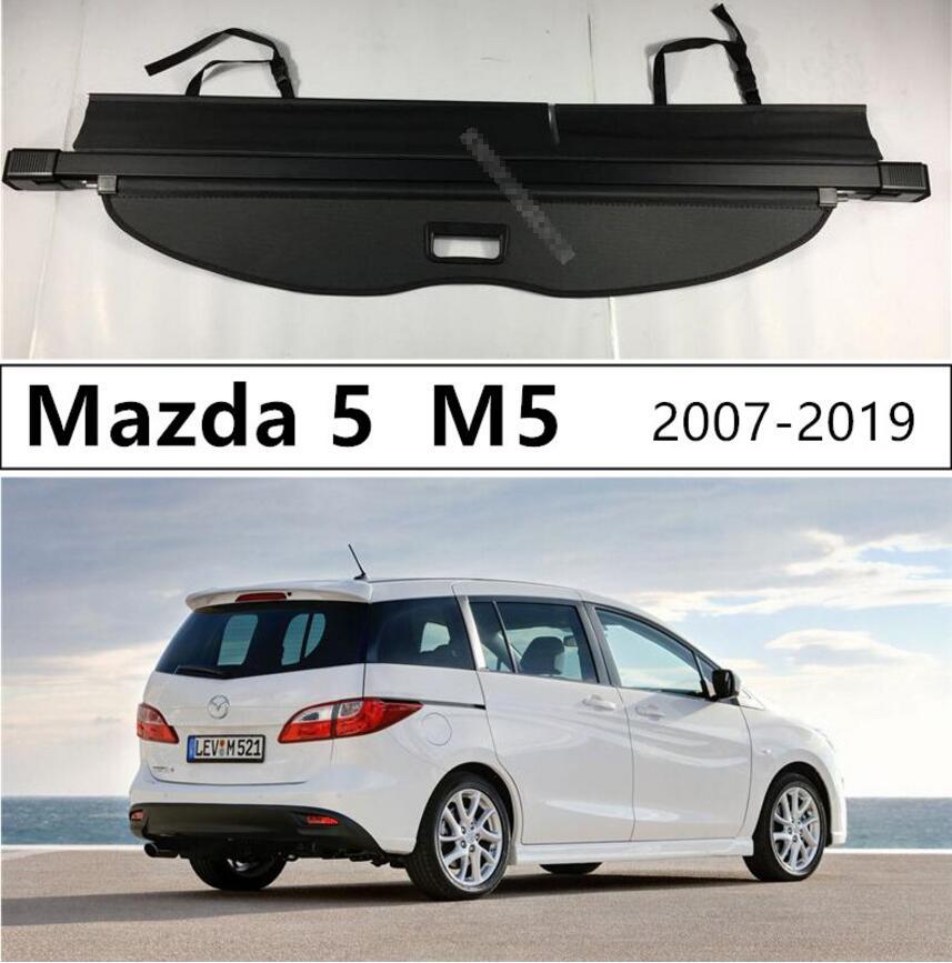 Aluminium alloy + Fabric Rear Trunk Security Shield Cargo Cover For Mazda 5 M5 2007.2008-2018.2019