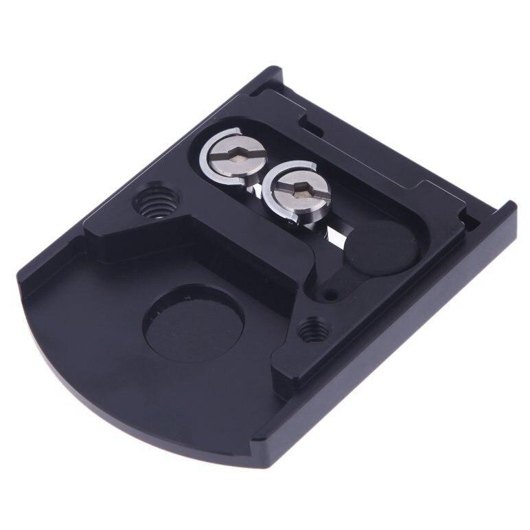 Montaje de lente de cámara 410PL Placa de liberación rápida para Manfrotto 405 410 para RC4 Sistema de liberación rápida negro