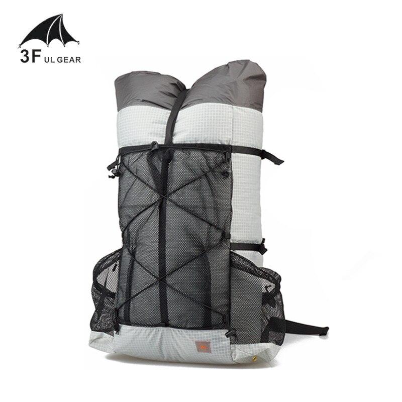 Mochila ultraligera 3F UL GEAR tutora 26L 38L Outdoo Camping senderismo mochila impermeable UHMWPE bolsas paquetes sin marco